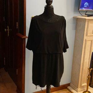 Jessica Simpson plus size black short sleeve dress
